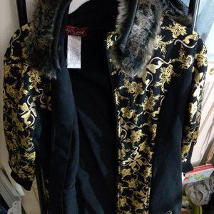 Baby Phat Yellow-Gold and Black Jacket